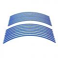 Reflexní pásky, samolepky na ráfky - modré