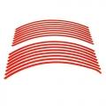 Reflexní pásky, samolepky na ráfky - červené